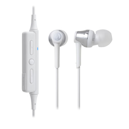 Audio-Technica ATH-CKR35BTSV Bluetooth In-Ear Headphones - Silver/White