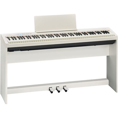Roland FP-30-WH-SET Digital Piano Set with 3 pedals and stand