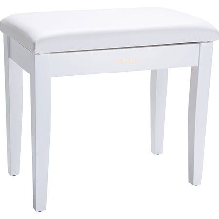 Roland RPB-100WH-EU Piano Bench, Satin White, vinyl seat, music compartment (EU model)