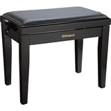 Roland RPB-200PE-EU Piano Bench, Polished Ebony, vinyl seat (EU model)