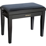Roland RPB-220PE-EU Piano Bench, Polished Ebony, velours seat (EU model)