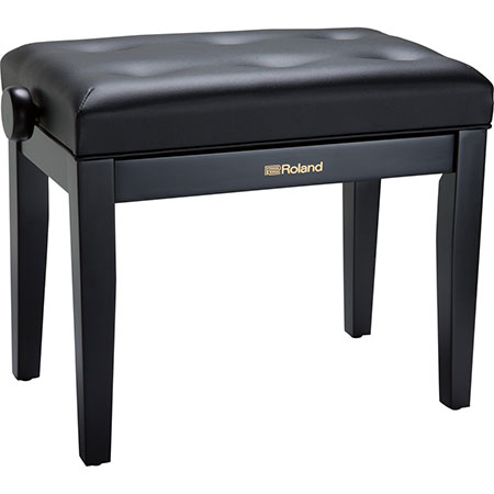 Roland RPB-300BK-EU Piano Bench, Satin Black, vinyl seat (EU model)