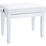 Roland RPB-300WH-EU Piano Bench, Satin White, vinyl seat (EU model)