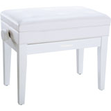 Roland RPB-400RW-EU Piano Bench, Polished White, vinyl seat (EU model)