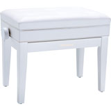 Roland RPB-400WH-EU Piano Bench, Satin White, vinyl seat (EU model)