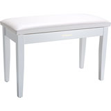 Roland RPB-D100WH-EU Piano Bench, Duet Size, Satin White, vinyl seat, music compartment (EU model)