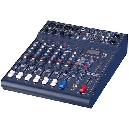 Studiomaster CLUBXS8 8-channel 4 x mic + 2 stereo line input mixer with USB/SD